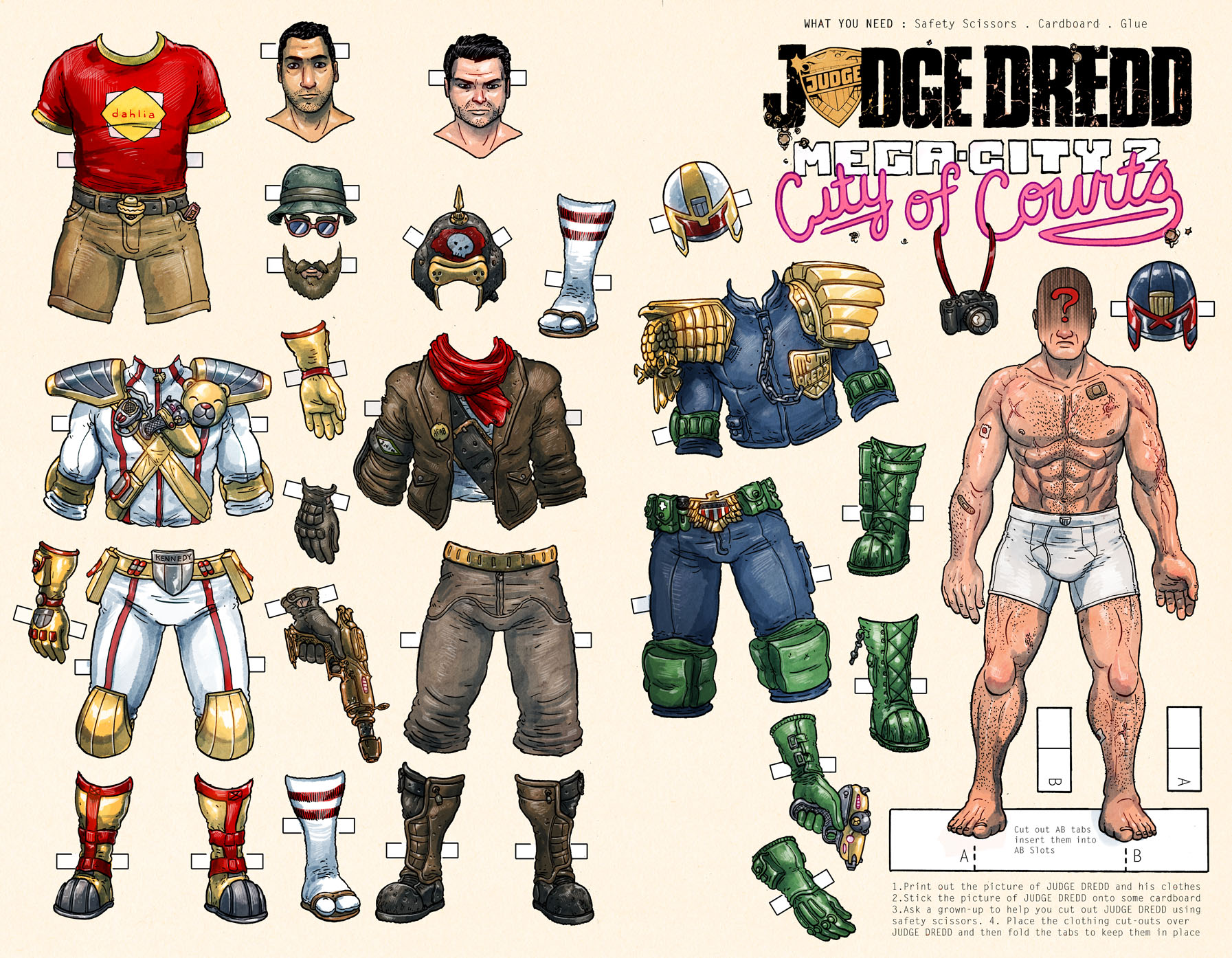 All Five Covers For Judge Dredd Mega City 2 Ulises Farinas