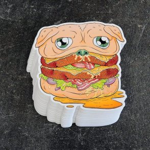 BUY PUG BURGER STICKER $5