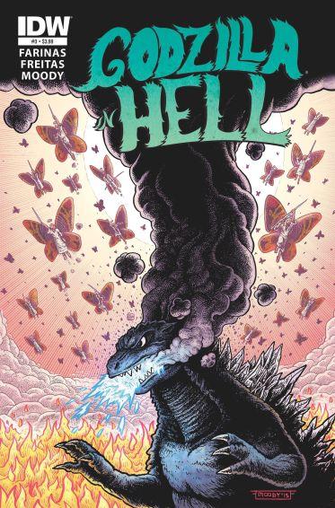 Godzilla in Hell, Art by Buster Moody